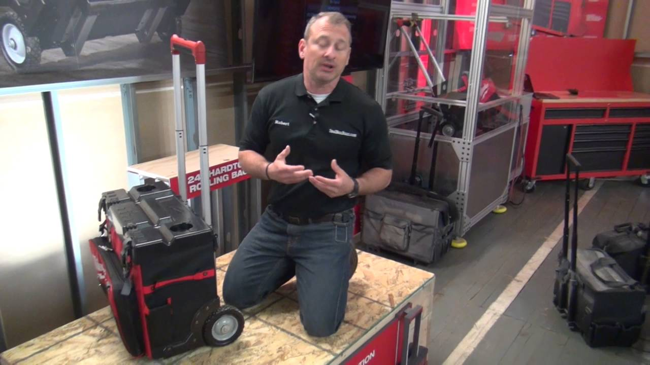 Milwaukee 24 Quot Hardtop Rolling Tool Bag Youtube