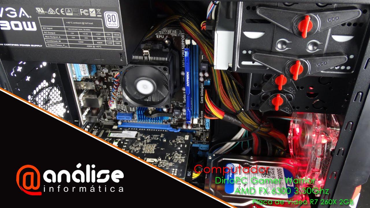 Teste Computador GameR Warrior AMD FX 6300 + R7 260X 2GB