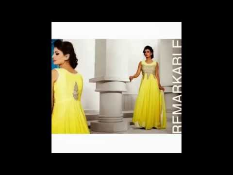Indo Western Gown Collection From Mohini Saree Online - YouTube
