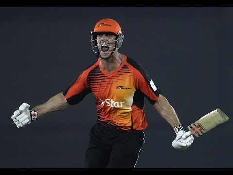 Perth Scorchers  vs Dolphins Highlight CLT 2014 | Mitchel Marsh 12 Run Last 2 ball