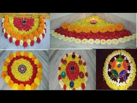 5 Easy Diwali flower Decoration Ideas // last minute diwali home decor //deepawali rangoli