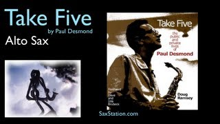 How to Play Take Five on Alto Sax (First Phrase) Alto Saxophone