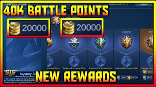 FREE 40K BATTLE POINTS (END SEASON) Claim BP + 2 SKINS and more in MOBILE LEGENDS