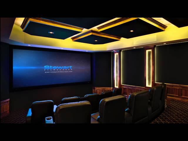 Stewart Filmscreen's Deluxe Wallscreen
