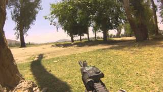 Soldiers pinned down intense firefight