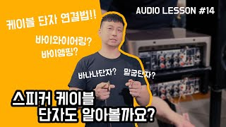 스피커 케이블 단자에 대해서 알아볼까요? ; Audio…