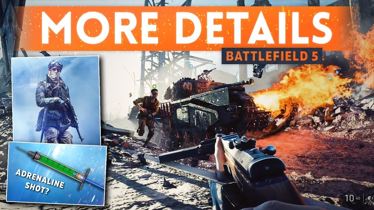 DICE REVEALS MORE BATTLEFIELD 5 INFO! - 5th Class Possible, All Kit Weapons, Adrenaline Shot Gadget?
