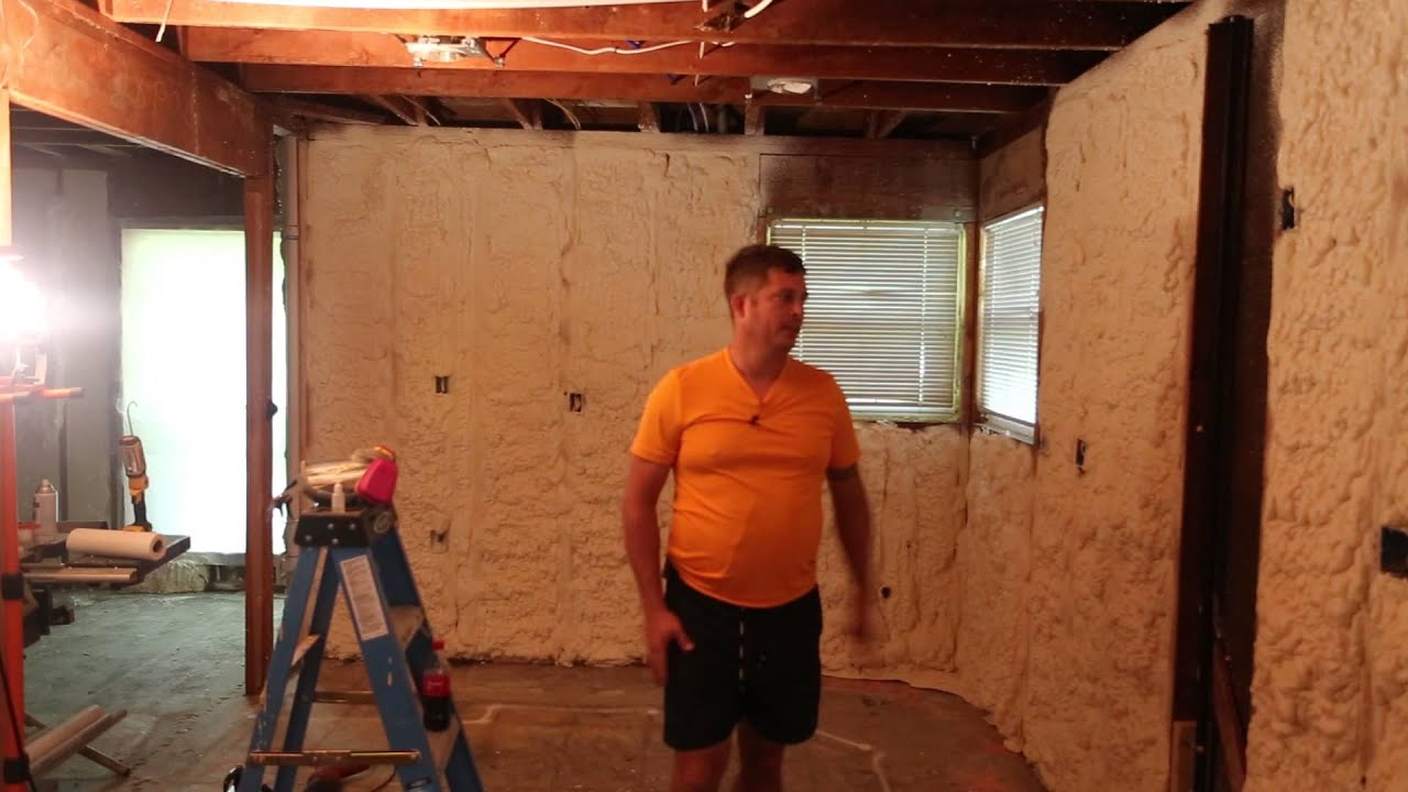 DIY Spray Foam - How to Trim foam - YouTube