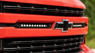 homepage tile video photo for 2019 Chevrolet Silverado 1500 10-inch LED Light Bar Grille Kit by Rough Country