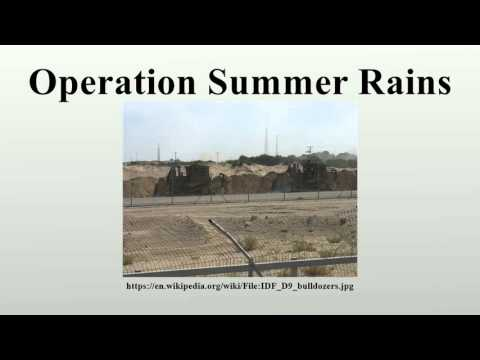 Operation Summer Rains