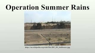 Operation Summer Rains