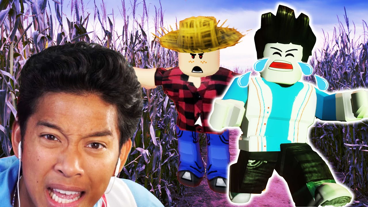 GET OFF MY FARM! MarMar ESCAPES the MEANEST FARMER in ROBLOX!