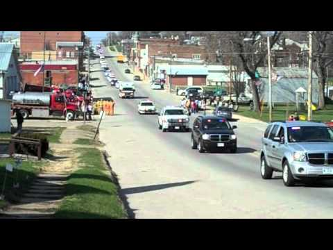 First half of Eric Stein funeral procession