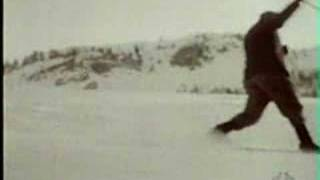 Telemarking in Alps in early 1900-20's
