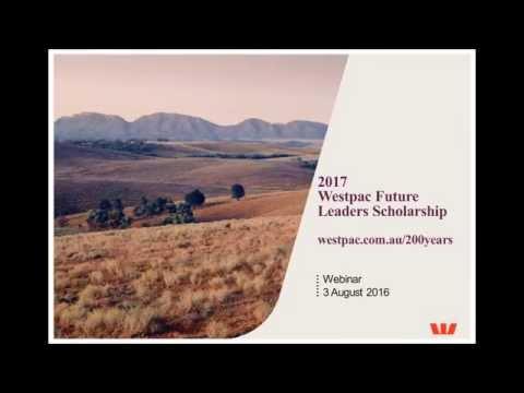 Westpac Future Leaders Scholarship 2017