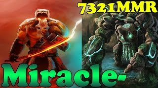 Dota 2 - Miracle- 7321 MMR Plays Juggernaut And Tiny - Ranked Match Gameplay!