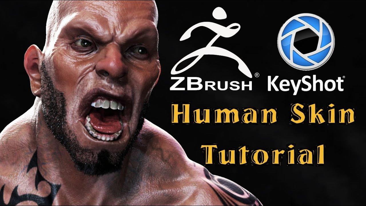 Tutorial - How to render Human skin with Keyshot  - Zbrush to Keyshot