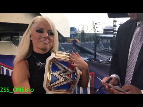 One word with Alexa Bliss Coach Interview WWE Wrestlemania