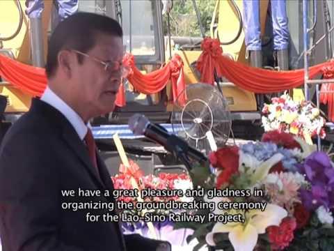 Lao NEWS on LNTV: The Groundbreaking Ceremony of the Lao-Sino Railway Project.2/12/2015