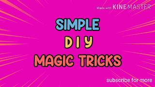 Simple Diy magic tricks, funny pranks ,,top tricks