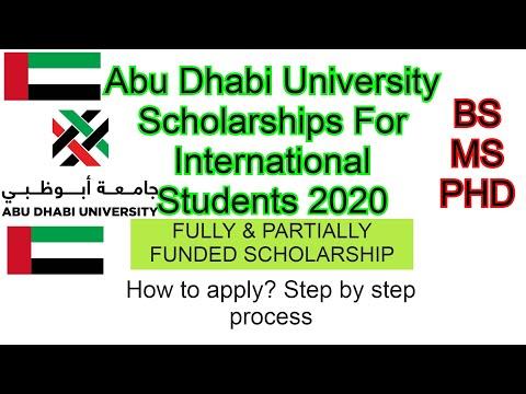 Abu Dhabi University Scholarships For International Students 2020
