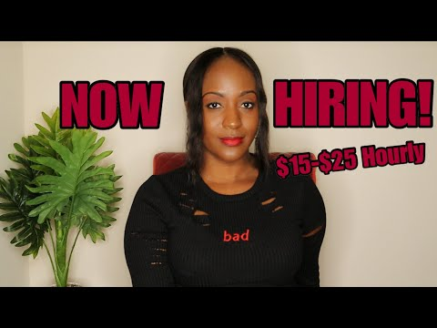 5 Companies With Work From Home Jobs Paying $15-$25 Hourly ~ 2019/2020