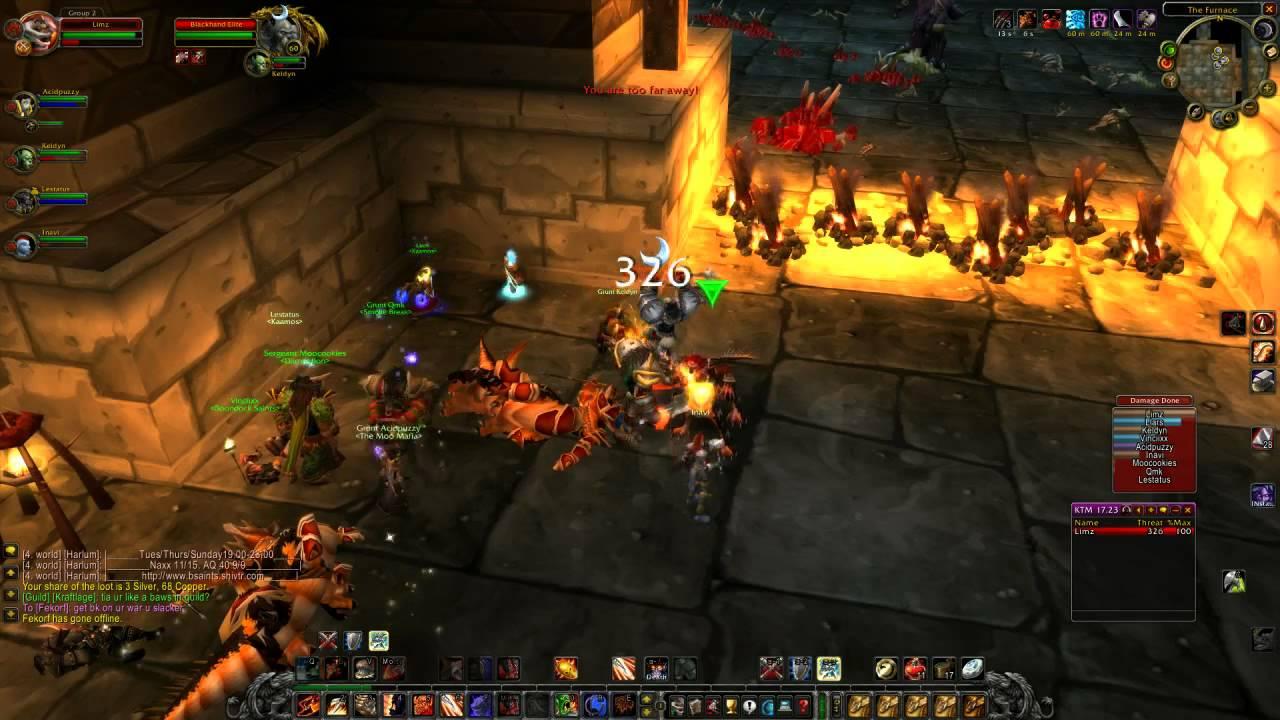 WoW Vanilla Fury Warrior lvl60 UBRS Dungeon