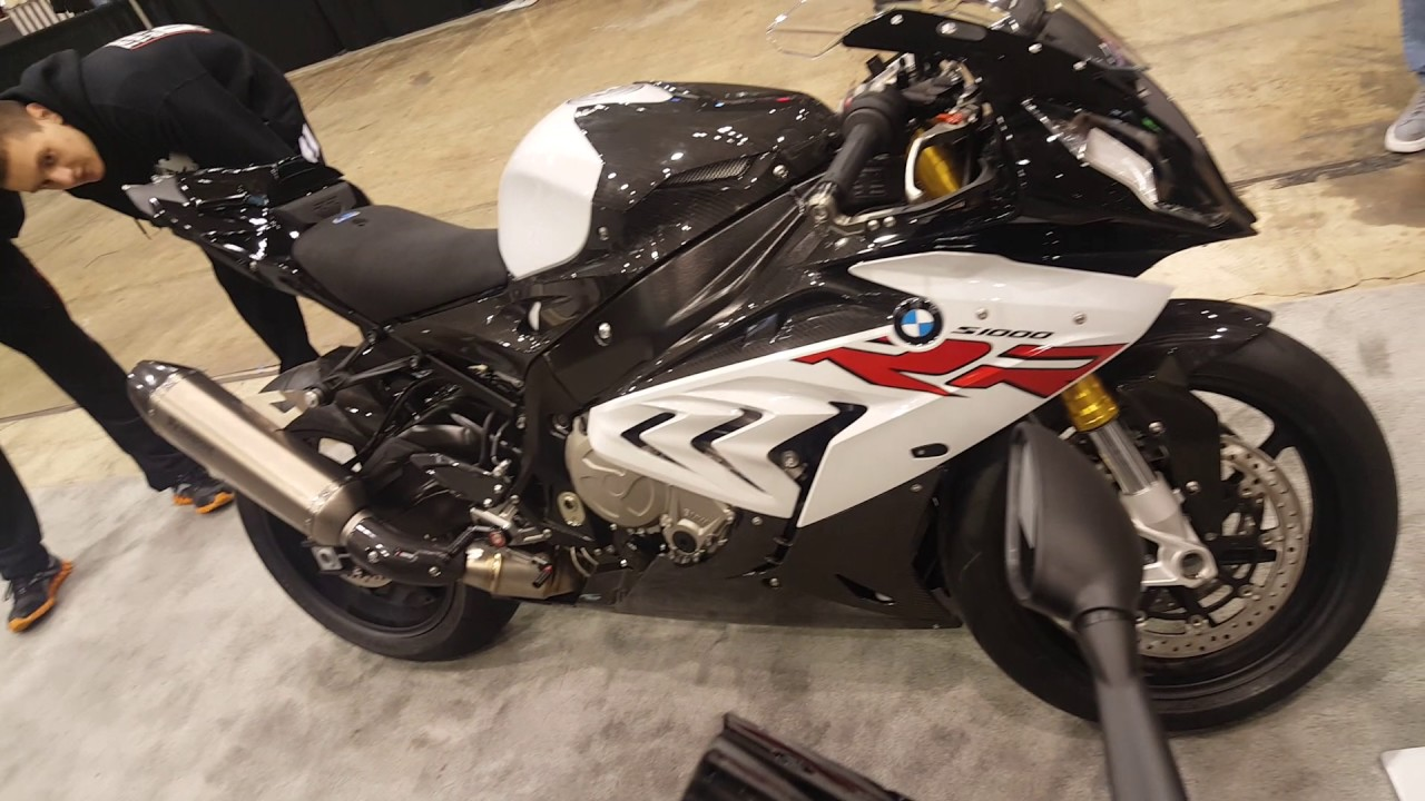 2017 bmw s1000rr display @ cleveland motorcycle show - youtube