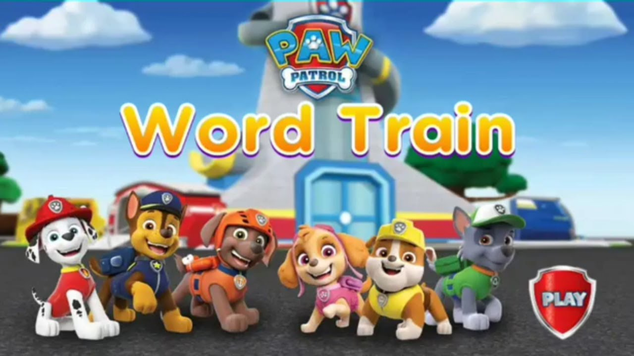paw patrol word train kids game episode android gameplay