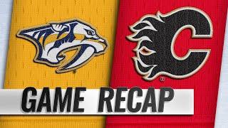 Flames score three in 3rd, earn fifth straight win