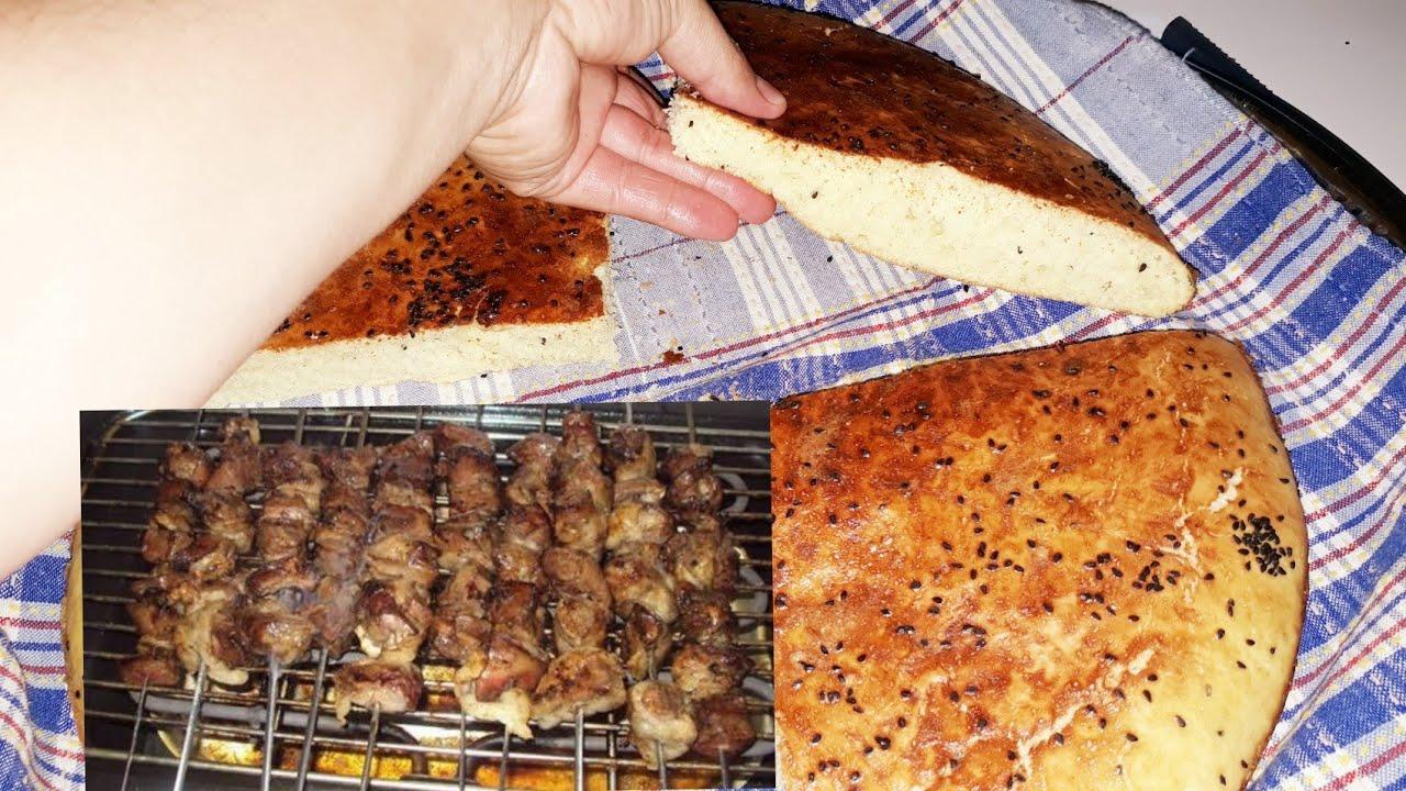 حابة ديري شواء🍢 ومكانش باش تاكلوه حضري اروع خبز الدار بالسميد خفيف ومنفوخ روعة