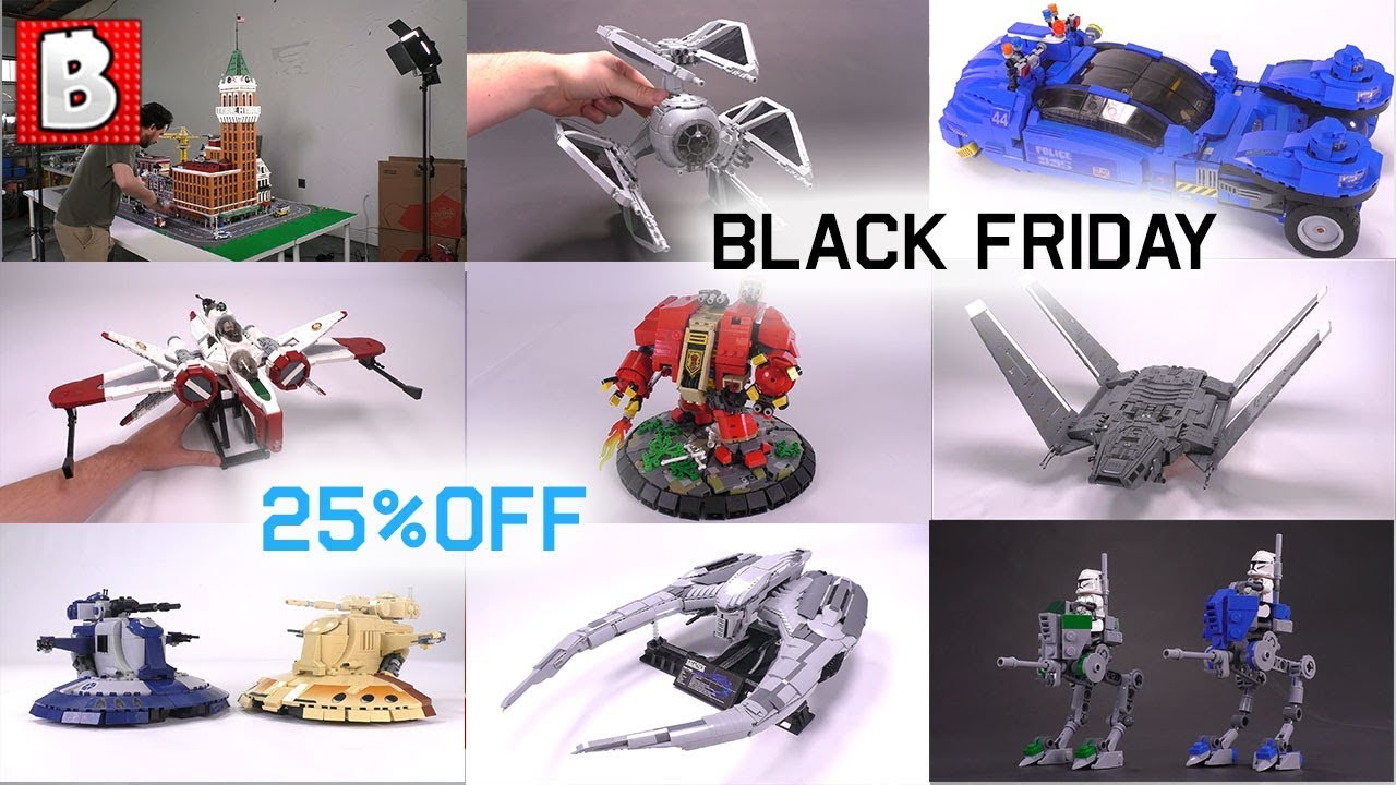 Custom LEGO Black Friday 25% OFF Sale!