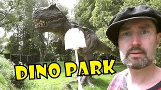 T-REX TINY ARMS - brushing teeth in DINO PARK - fun dinosaur facts for kids, Daddy Donut