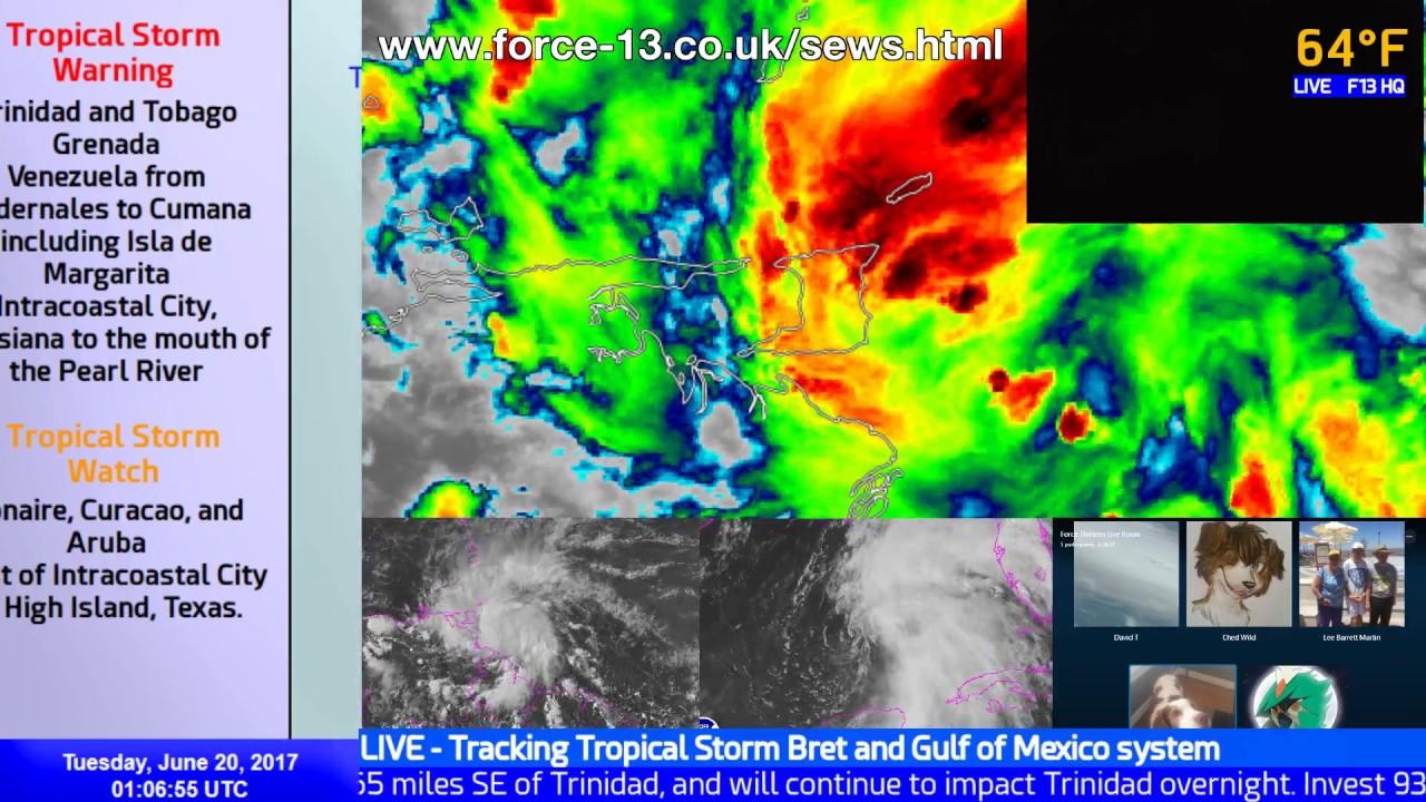 Tropical Storm Bret Live Coverage June 20 01 00 Utc Youtube