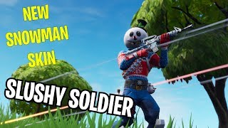 "NOUVEAU SNOWMAN ""SLUSHY SOLDIER"" Skin in Fortnite - New Ice Pick"
