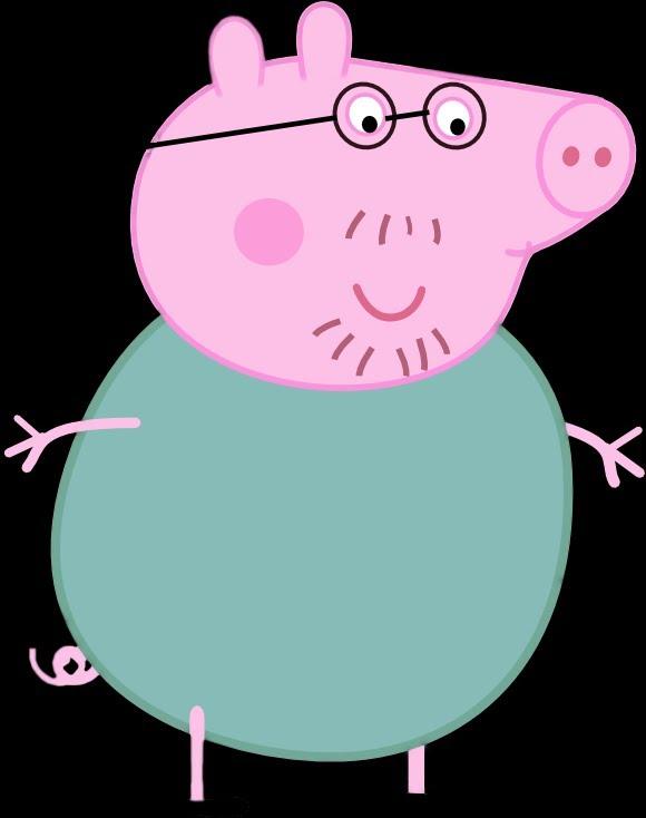 Свинка пеппа папа свин картинки