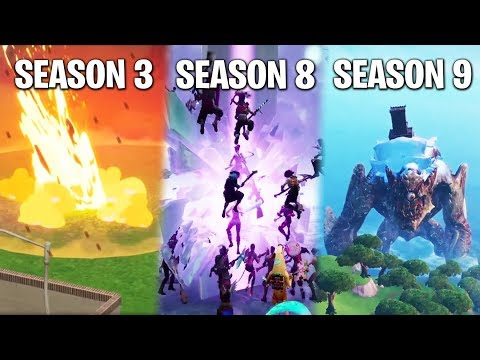 ALL Fortnite EVENTS So Far! (From Meteor Impact To Final Showdown)
