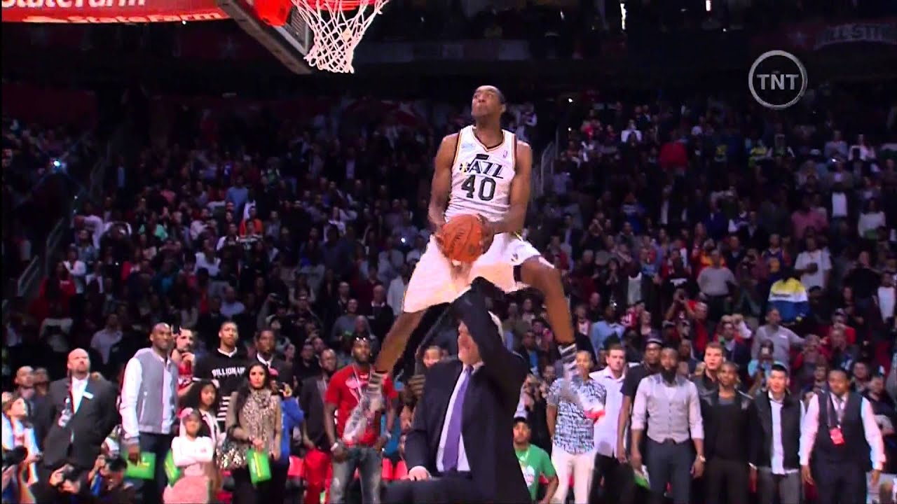 Jeremy Evans Dunks Over Mark Eaton 2013 NBA Dunk Contest