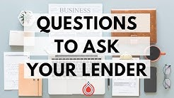 Questions to Ask a Mortgage Lender