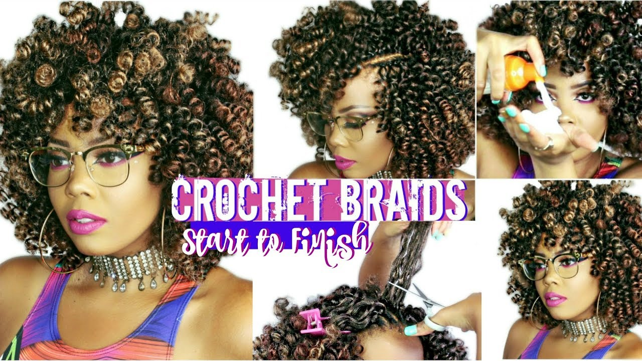 HOW TO CROCHET BRAIDS ON 4C NATURALHAIR START TO