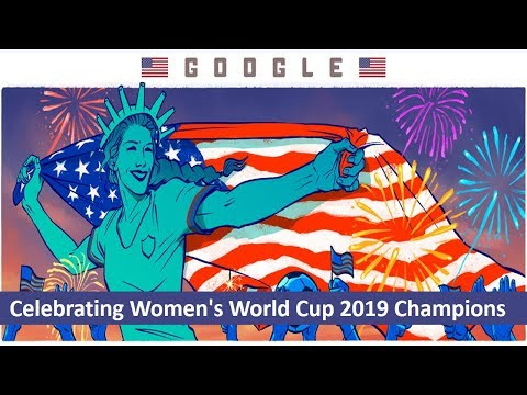 Celebrating Women's World Cup 2019 Champions USA 🇺🇸