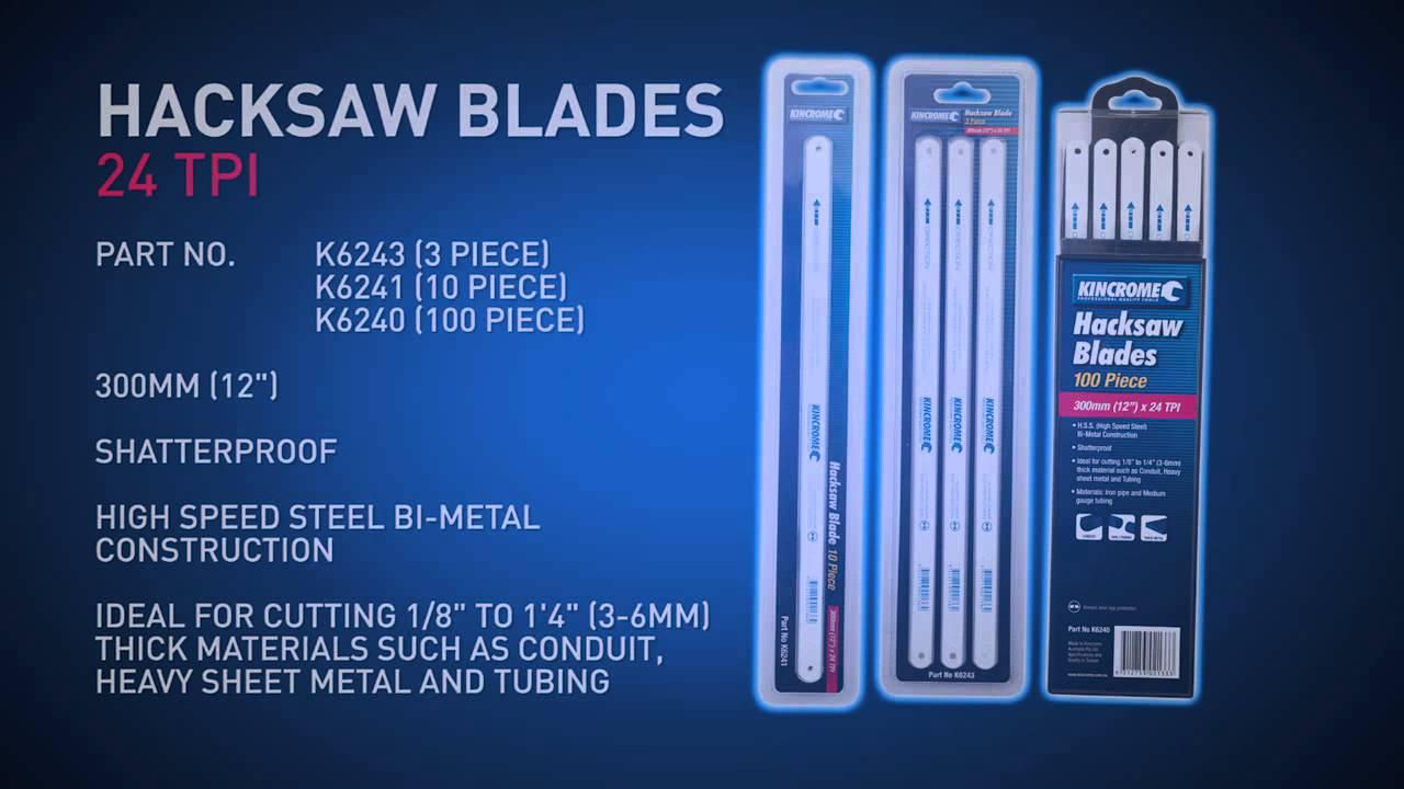 Kincrome hacksaw blades youtube kincrome hacksaw blades greentooth Image collections