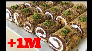 حلوة تركية رمضانية لسهراتكم سهلة سريعة بمكونات متوفرة بدون بيض لا تفوتكم👌✔️recettes faciles