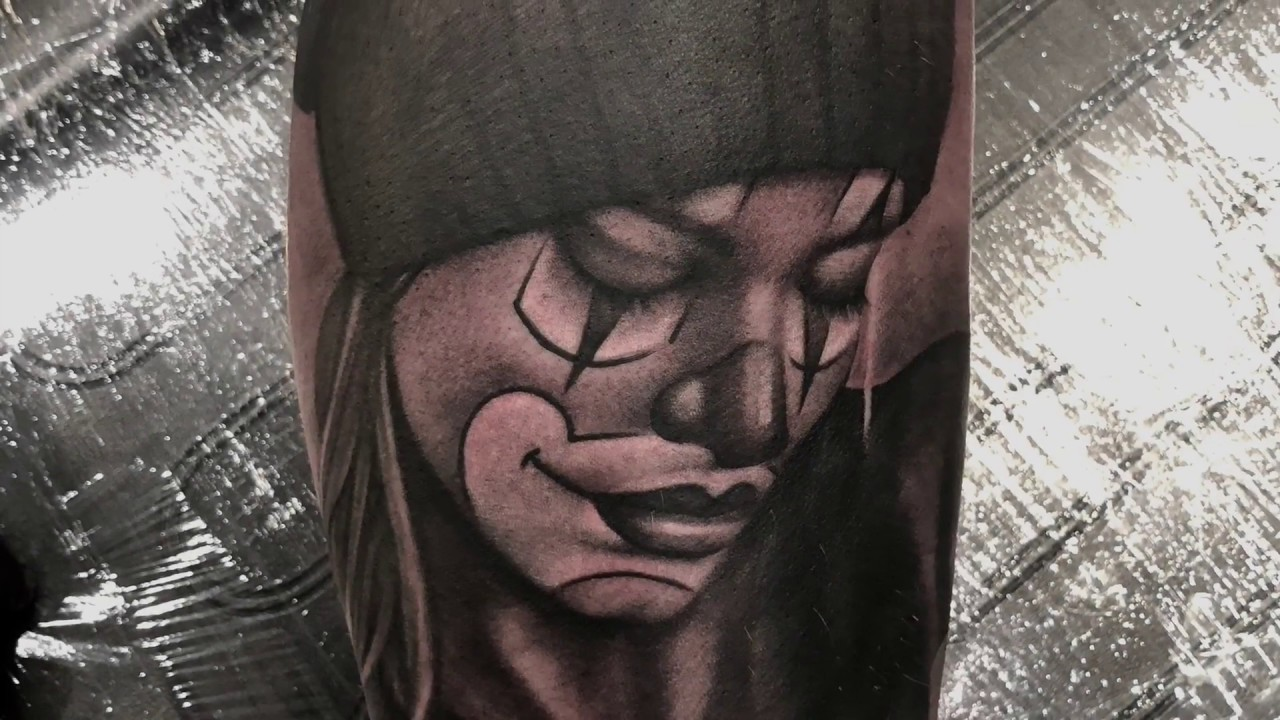 52d261a0d clown woman tattoo. 34 Clown Tattoos - Meanings, Photos, Designs for men  and women