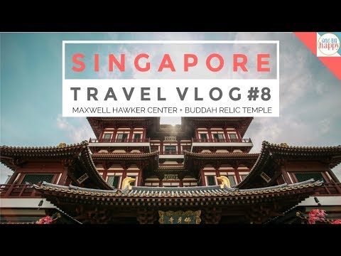 Our Epic Singapore Family Vacation Travel Vlog - Maxwell Hawker Food & Buddah Temple