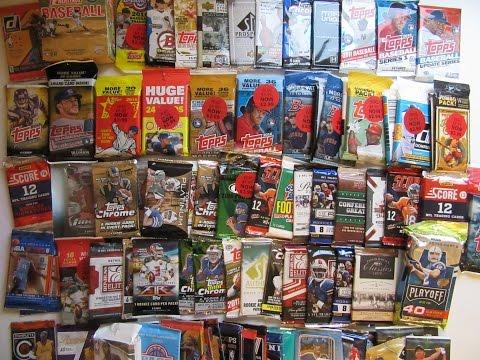 93 Random Trading Card Pack Break / Football Baseball Basketball Hockey Golf