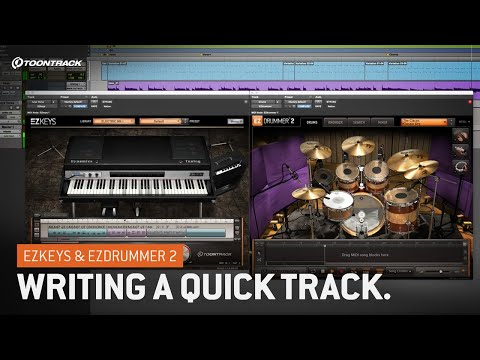 Writing With EZkeys And EZdrummer 2