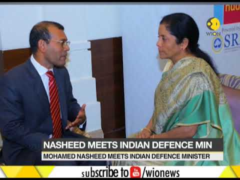Maldives Ex-President Mohamed Nasheed in India, meets Indian defence minister Nirmala Sitharaman
