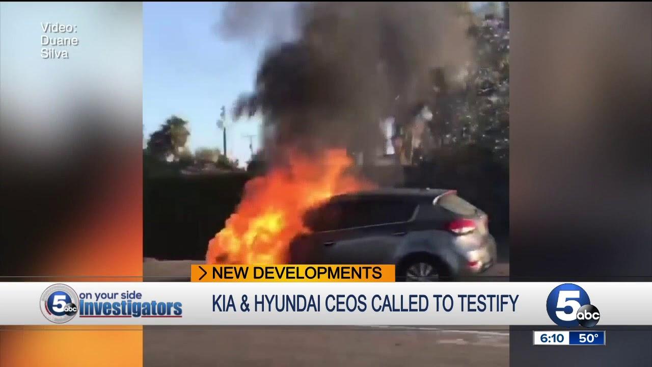 Kia Hyundai Car Fires Senate Committee Now Wants To Hear From Companies Ceos