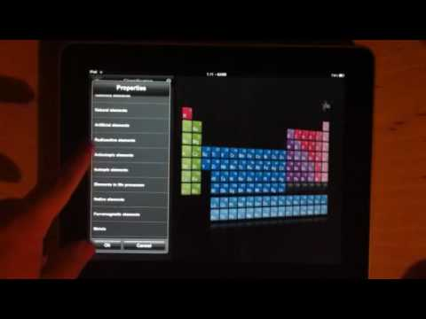 Emt pte free periodic table app demonstration on ipad youtube urtaz Choice Image